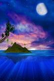 Floating Tropical Island Stock Image