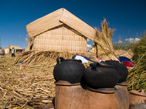 Floating Uros Islands Stock Photos
