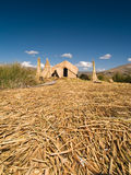 Floating Uros Islands Stock Images
