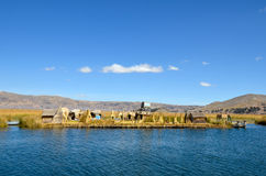 Floating Uros Reed Islands on Lake Titicaca Royalty Free Stock Photos
