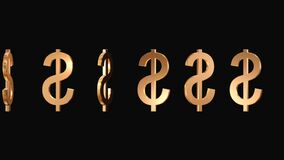 Floating US dollar signs. Video of Floating US dollar signs stock footage