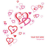 Floating Valentine hearts Royalty Free Stock Photography