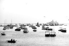 Floating. View of the harbour of Mumbai City India Royalty Free Stock Photo