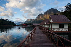 Floating villa in Khao sok national park Royalty Free Stock Photo
