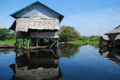 Floating village Stock Photo