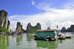 Floating Village Royalty Free Stock Photo