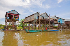 Free Floating Village Royalty Free Stock Photography - 26423317