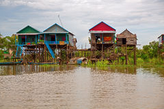 Floating village Stock Photos
