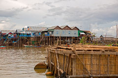 Floating village Royalty Free Stock Photography