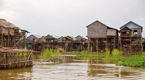 Floating village Royalty Free Stock Images