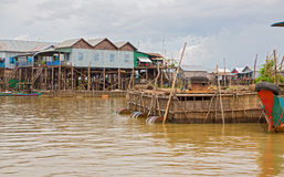 Floating village Royalty Free Stock Photos