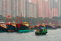 Floating village, Aberdeen, Hongkong Royalty Free Stock Photo