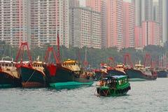 Floating village, Aberdeen, Hongkong Royalty Free Stock Photo