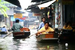 Floating village in Bangkok Stock Photography