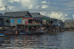 Floating village Cambodia Royalty Free Stock Photos