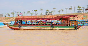 Floating village Cambodia. Stock Photo
