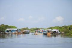 Floating village, Cambodia Royalty Free Stock Images