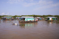Floating village, Cambodia Stock Images