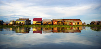 Floating Village Cambodia Lifestyle Traditional Concept Royalty Free Stock Photos