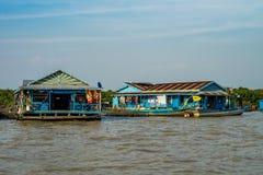 Floating village, Cambodia, Tonle Sap, Koh Rong island. stock photos