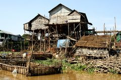 Floating village in Cambodia Stock Image