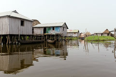 Floating village of Ganvie Royalty Free Stock Photography