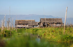 Floating village of Inle lake in Myanmar Stock Photography
