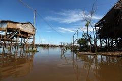Floating village at Inle lake in Myanmar Stock Photo