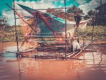 Floating village Kompong Phluk, Cambodia Royalty Free Stock Photo