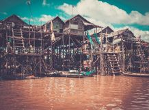 Floating village Kompong Phluk, Cambodia Stock Photo