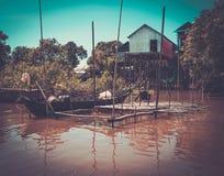 Floating village Kompong Phluk, Cambodia Stock Photography