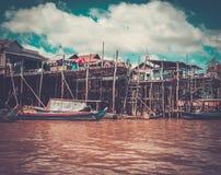 Floating village Kompong Phluk, Cambodia Royalty Free Stock Image