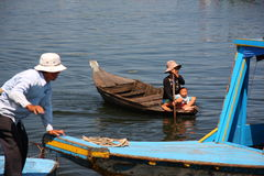 Floating village life Stock Images