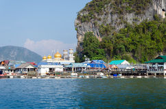 Floating village at Panyee island, Phanga, Thailand Stock Photos