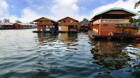 Floating village on the River Kwai, Thailand Stock Images