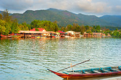 Floating village, Thai Stock Images