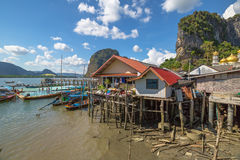 Floating village Thailand Royalty Free Stock Photo