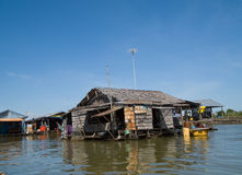 Floating village on Tonle Sap, Cambodia Stock Image