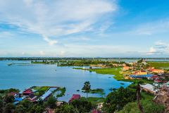 Floating Village at Tonle Sap royalty free stock photo