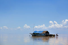 Floating village Stock Photography