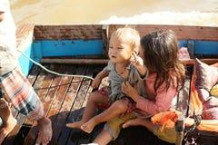 Floating Village. Tonle Sap Lake. Cambodia. Stock Photography