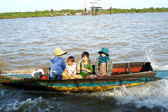 Floating Village. Tonle Sap Lake. Cambodia. Stock Photography