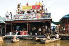 Floating Village. Tonle Sap Lake. Cambodia. Royalty Free Stock Photography