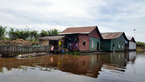 Floating village,  Tonle Sap, Siem Reap, Cambodia Royalty Free Stock Photography