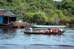 Floating village,  Tonle Sap, Siem Reap, Cambodia Royalty Free Stock Photos
