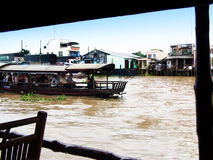 Floating Village in vietnam Royalty Free Stock Photography