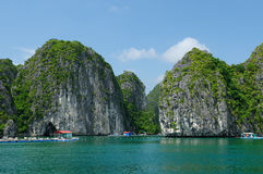 Floating village in Vietnam, Halong Bay Stock Images