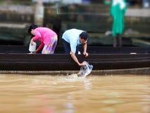 Floating Village in vietnam Royalty Free Stock Image