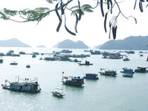 Floating villages Royalty Free Stock Photography