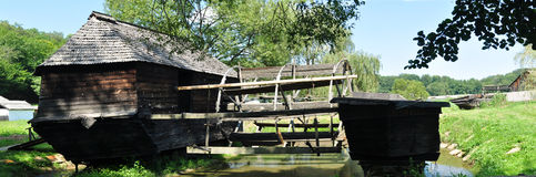 Floating watermill Royalty Free Stock Photography